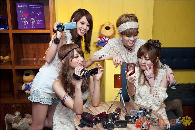 四位甜美網拍 Models @ BenQ 新品發表會