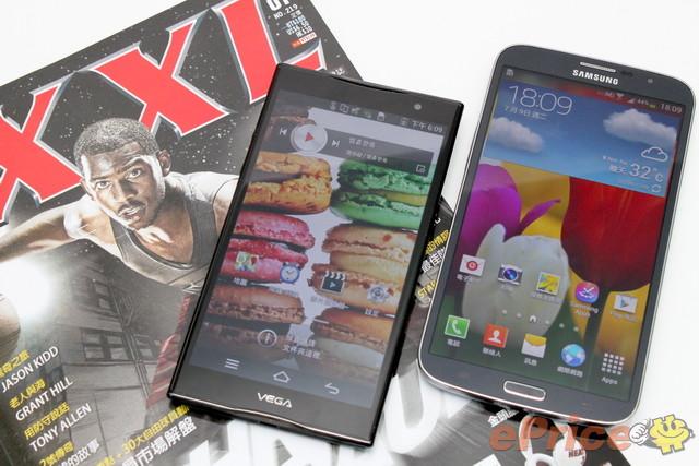 特大號對決:Galaxy Mega 6.3 與 Vega No 6 綜合比較測試 (開箱、評價、規格) - 手機新聞