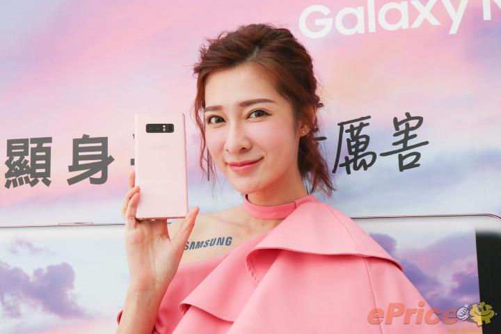 台灣第一波上市!Samsung Galaxy Note 8「星紗粉」實機圖賞